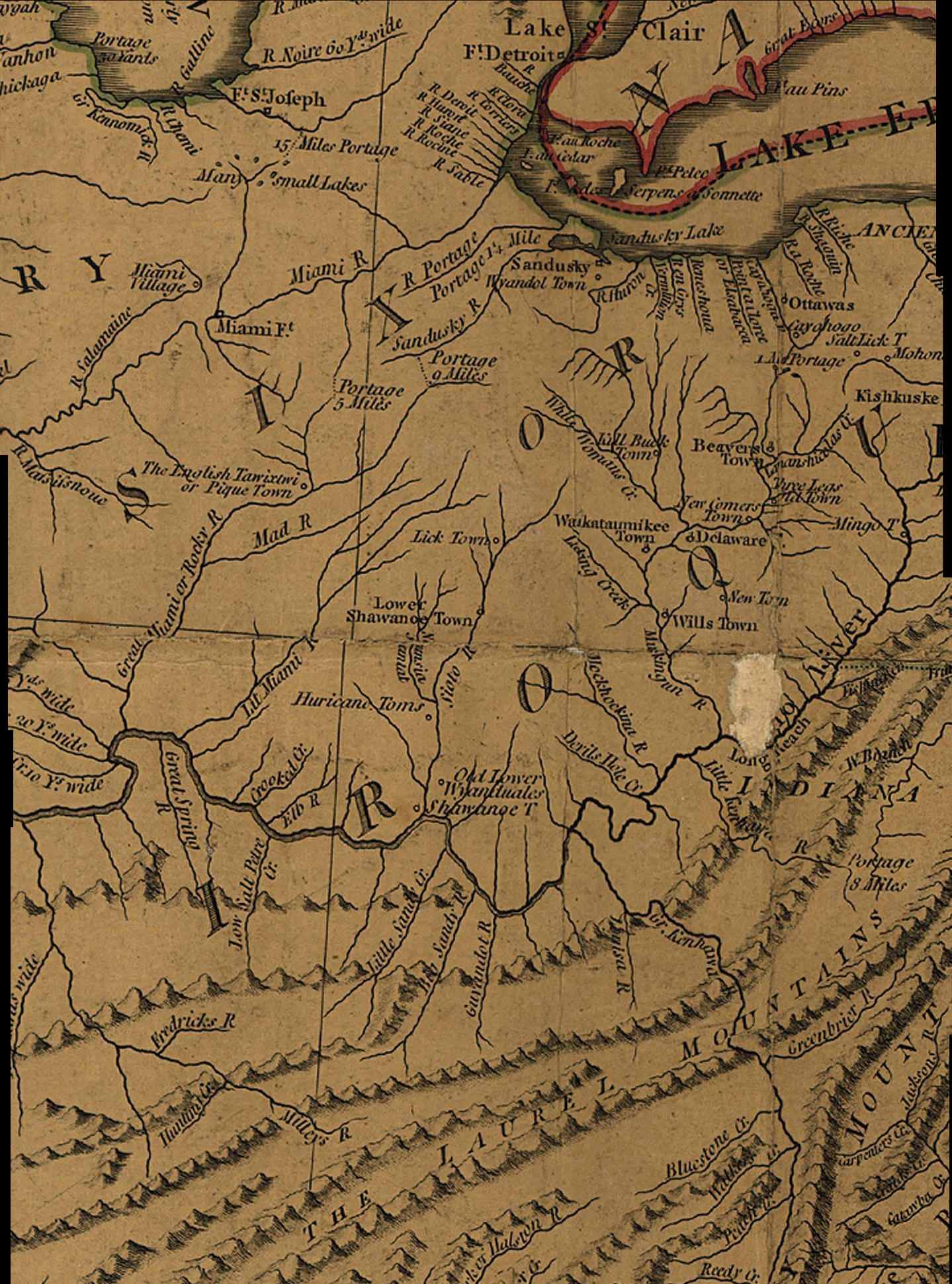 Maps map links and aerial photos 1783 subsection of the j cary map ohio river gumiabroncs Choice Image