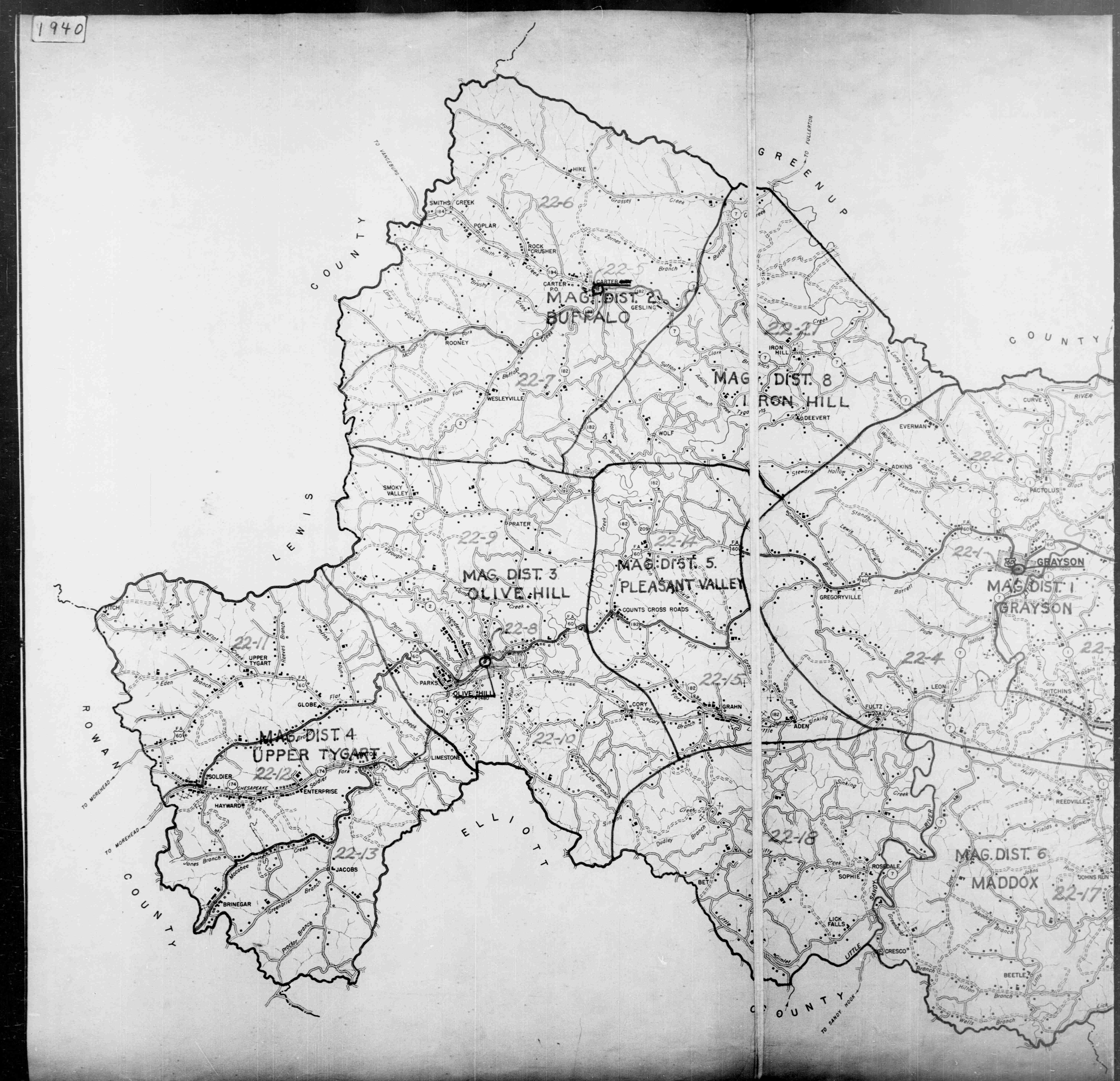 1940 Carter County Map